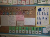 Cardiff class maths learning wall